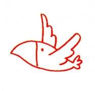乌鸦飞过简笔画图片