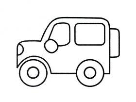 吉普车简笔画教程