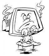 儿童卡通电视简笔画