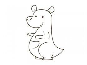 袋鼠的简笔画