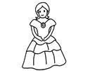 穿裙子的美女简笔画图片