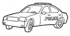 外国警车简笔画图片
