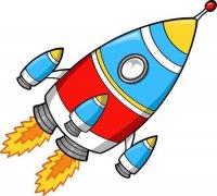儿童卡通涂色火箭简笔画图片