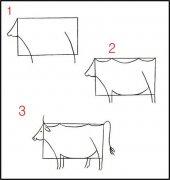 牛的简笔画画法步骤
