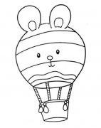 小学生可爱q版热气球简笔画图片大全
