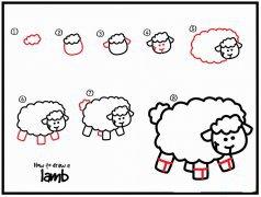 如何画小绵羊简笔画