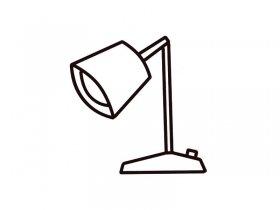 台灯简笔画图片