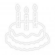 手绘生日蛋糕简笔画