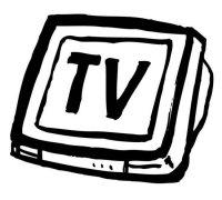 手绘ktv电视简笔画图片