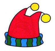儿童彩色针织毛线帽子简笔画图片
