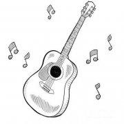 关于吉他音符简笔画图片