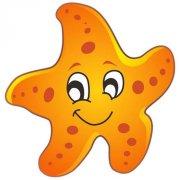 可爱彩色海星简笔画图片