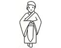 穿着古代装束的人简笔画图片