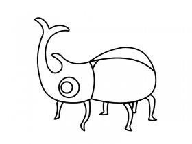 甲虫简笔画
