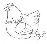 关于老母鸡下蛋简笔画图片