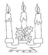 烛台上的三根蜡烛简笔画