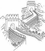八达岭长城简笔画图片