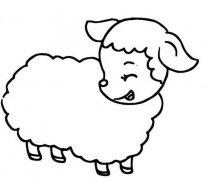 可爱卡通小绵羊简笔画
