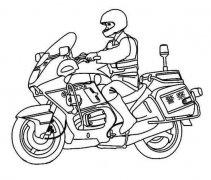 少儿摩托车警车简笔画图片