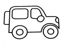 儿童关于吉普车的简笔画
