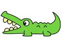 张大嘴巴的鳄鱼简笔画图片