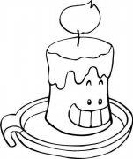 卡通蜡烛简笔画