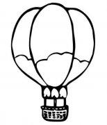 手绘热气球简笔画图片