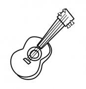 幼儿小吉他乌克丽丽简笔画图片大全
