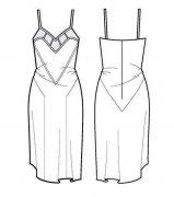 女人吊带裙子简笔画图片