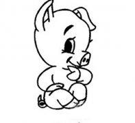 可爱的小猪简笔画图片