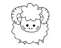 公绵羊可爱简笔画图片