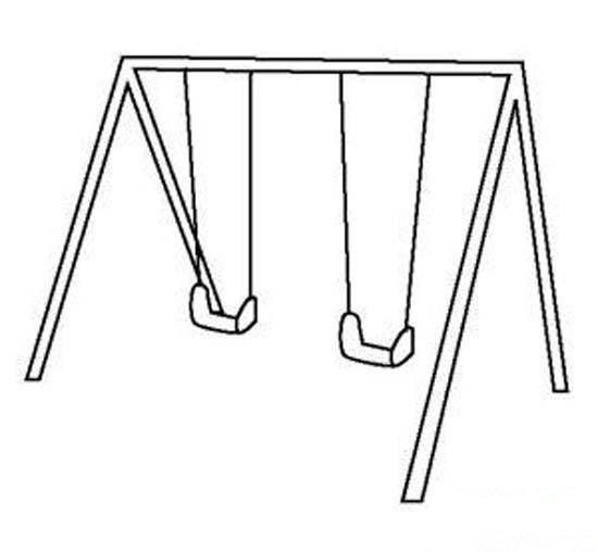 儿童秋千吊椅简笔画图片