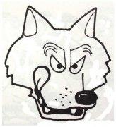 大灰狼头像简笔画图片