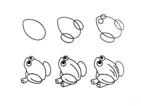 简笔画青蛙的画法