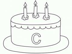 儿童生日蛋糕简笔画