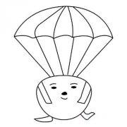 幼儿可爱卡通热气球简笔画图片