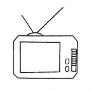 幼儿老式电视机简笔画图片
