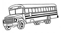 美国幼儿园校车简笔画图片