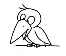 幼儿园小乌鸦简笔画图片