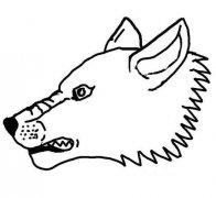 狼头简笔画图片