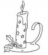 精致漂亮的蜡烛简笔画图片大全