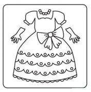 儿童苏菲亚小公主裙子简笔画图片