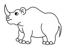 少儿犀牛简笔画图片