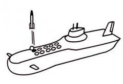 小学生战斗潜艇简笔画图片大全