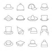 各种帽子简笔画图片大全