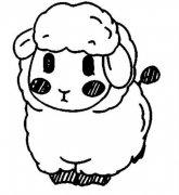 羊羔简笔画图片