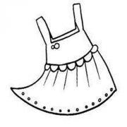少儿衣服简笔画图片:裙子