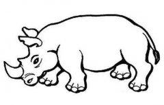 犀牛简笔画图片