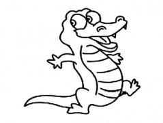 儿童卡通鳄鱼简笔画图片