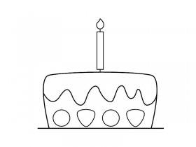 生日蛋糕的简笔画